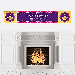Happy Diwali - Personalized Festival of Lights Party Banner