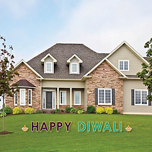 Happy Diwali - Yard Sign Outdoor Lawn Decorations - Festival of Lights Party Yard Signs - Happy Diwali