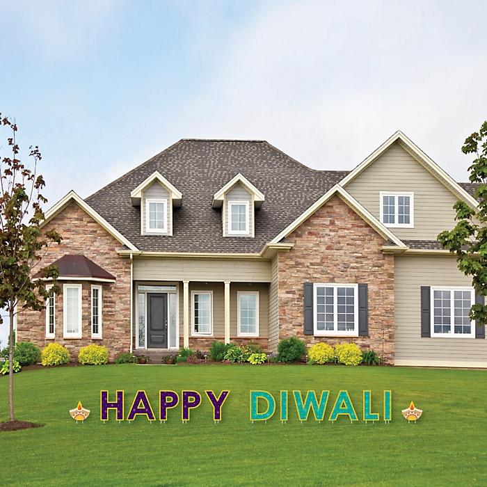 Happy Diwali - Yard Sign Outdoor Lawn Decorations - Festival of Lights Party Yard Signs - Happy Diwali