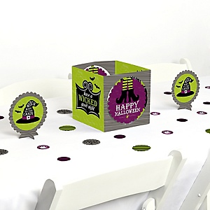 Happy Halloween - Witch Party Centerpiece & Table Decoration Kit