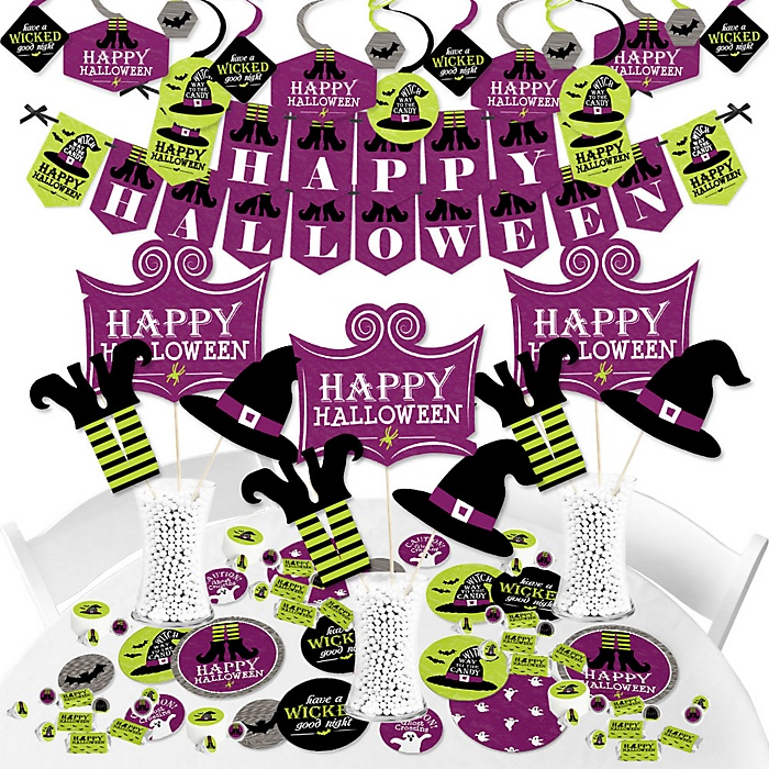 Happy Halloween - Witch Party Supplies - Banner Decoration Kit - Fundle Bundle