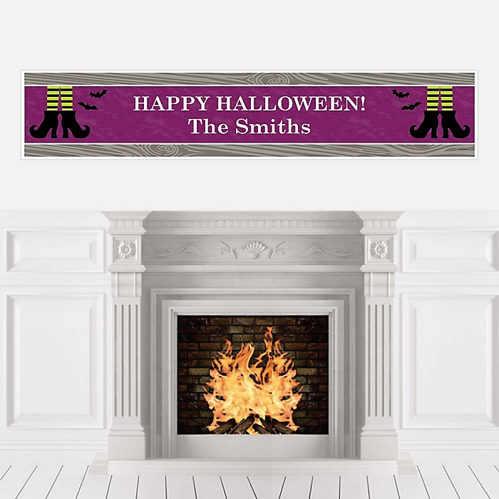 Happy Halloween - Personalized Witch Party Banner