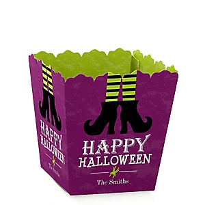 Happy Halloween - Party Mini Favor Boxes - Personalized Witch Party Treat Candy Boxes - Set of 12