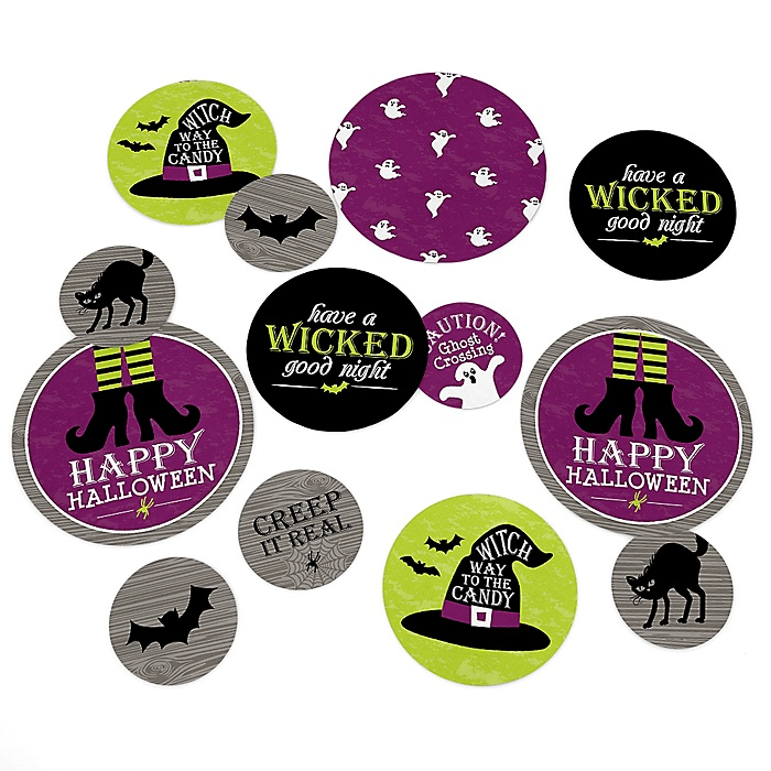 Happy Halloween - Witch Party Giant Circle Confetti - Party Decorations - Large Confetti 27 Count