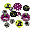 Happy Halloween - Personalized Witch Party Giant Circle Confetti - Happy Halloween Decorations - Large Confetti 27 Count