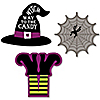 Happy Halloween - DIY Shaped Witch Party Paper Cut-Outs - 24 Ct.