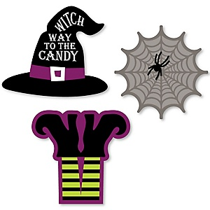 Happy Halloween - DIY Shaped Witch Party Cut-Outs - 24 ct