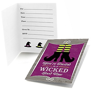 Happy Halloween - Fill In Witch Party Invitations - 8 ct