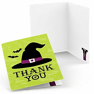 Happy Halloween - Witch Party Thank You Cards - 8 ct