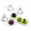 Happy Halloween - Round Candy Labels Witch Party Favors - Fits Hershey Kisses - 108 ct