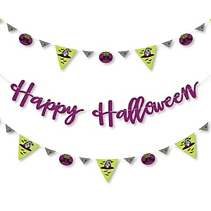 Happy Halloween - Birthday Party Letter Banner Decoration - 36 Banner Cutouts and Happy Birthday Banner Letters