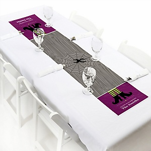 Happy Halloween - Personalized Witch PartyPetite Table Runner