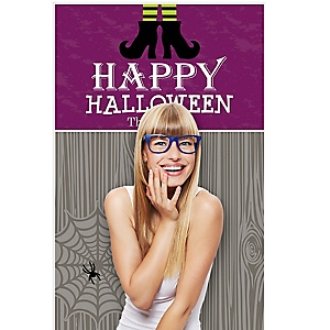 """Happy Halloween - Witch Party Photo Booth Backdrops - 36"""" x 60"""""""