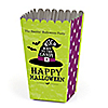 Happy Halloween - Personalized Witch Party Popcorn Favor Treat Boxes - Set of 12