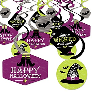 Happy Halloween - Witch Party Hanging Decor - Party Decoration Swirls - Set of 40