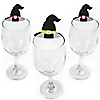Happy Halloween - Shaped Witch Party Wine Glass Markers - Set of 24