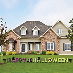 Happy Halloween - Yard Sign Outdoor Lawn Decorations - Witch Party Yard Signs - Happy Halloween
