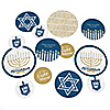 Happy Hanukkah - Personalized Chanukah Giant Circle Confetti - Hanukkah Decorations - Large Confetti 27 Count