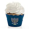 Happy Hanukkah - Chanukah Decorations - Party Cupcake Wrappers - Set of 12