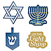 Happy Hanukkah - DIY Shaped Chanukah Paper Cut-Outs - 24 Ct.