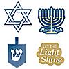 Happy Hanukkah - DIY Shaped Chanukah Paper Cut-Outs - 24 Ct.