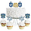 Happy Hanukkah - Dessert Cupcake Toppers - Chanukah Clear Treat Picks - Set of 24