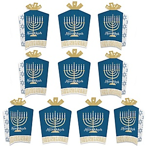 Happy Hanukkah - Table Decorations - Chanukah Holiday Party Fold and Flare Centerpieces - 10 Count