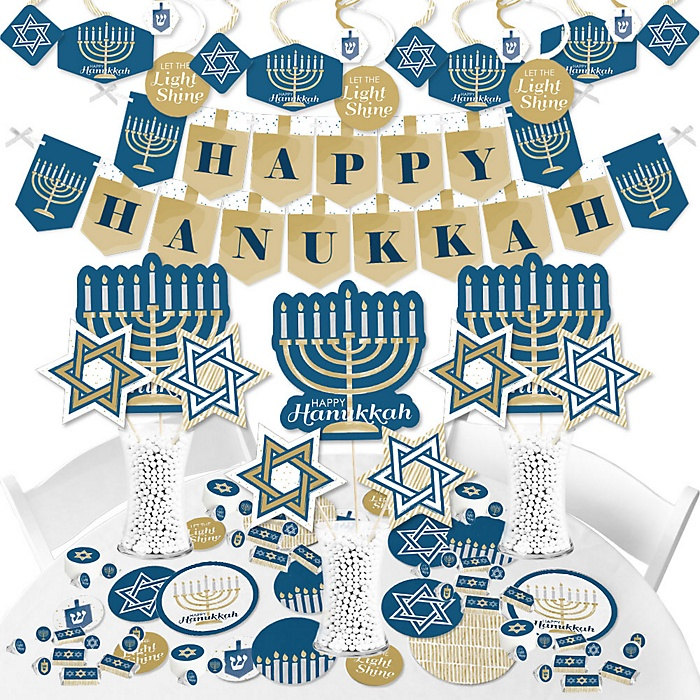 Happy Hanukkah - Chanukah Supplies - Banner Decoration Kit - Fundle Bundle