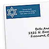 Happy Hanukkah - 30 Personalized Chanukah Return Address Labels