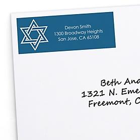 Happy Hanukkah - 30 Personalized Chanukah Return Address Labels