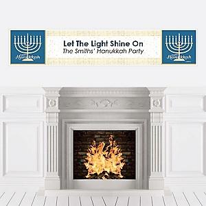 Happy Hanukkah - Personalized Chanukah Party Banner