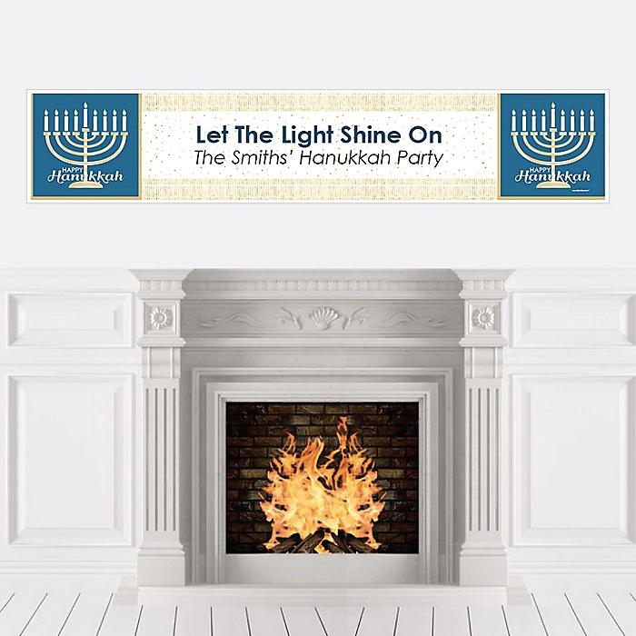Happy Hanukkah - Personalized Chanukah Party Banner