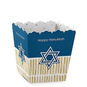 Happy Hanukkah - Party Mini Favor Boxes - Personalized Chanukah Party Treat Candy Boxes - Set of 12