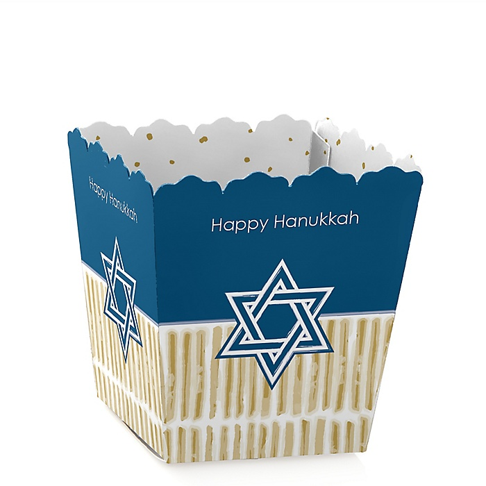 Happy Hanukkah - Party Mini Favor Boxes - Personalized Chanukah Party Treat Candy Boxes - Set of 12