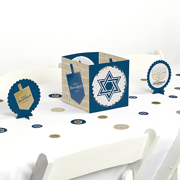 Happy Hanukkah - Chanukah Centerpiece and Table Decoration Kit
