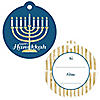 Happy Hanukkah - Chanukah Party To and From Favor Gift Tags - Set of 20