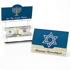 Happy Hanukkah - Set of 8 Chanukah Money And Gift Card Holders