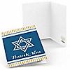 Happy Hanukkah - Chanukah Party Thank You Cards - 8 ct