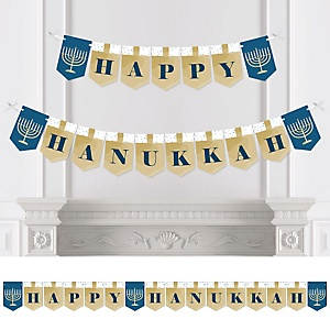 Happy Hanukkah - Personalized Chanukah Bunting Banner & Decorations