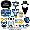 Happy Hanukkah - 20 Piece Chanukah Photo Booth Props Kit
