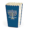 Happy Hanukkah - Personalized Chanukah Popcorn Favor Treat Boxes - Set of 12