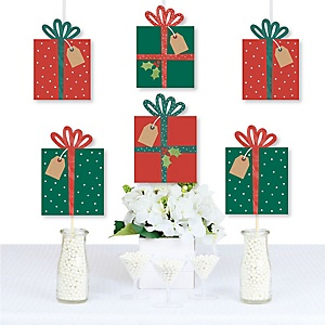 Happy Holiday Presents - Decorations DIY Christmas Party Essentials - Set of 20
