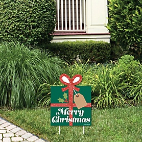 Happy Holiday Presents - Outdoor Lawn Sign - Christmas Party Yard Sign - 1 Piece