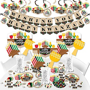 Happy Kwanzaa - African Heritage Holiday Supplies - Banner Decoration Kit - Fundle Bundle