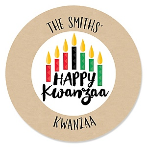 Happy Kwanzaa - African Heritage Holiday Sticker Labels - 24 ct