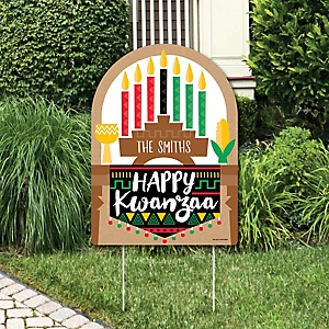 Happy Kwanzaa - Party Decorations - African Heritage Holiday Personalized Welcome Yard Sign