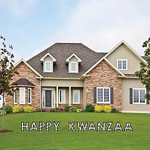 Happy Kwanzaa - Yard Sign Outdoor Lawn Decorations - African Heritage Holiday Yard Signs - Happy Kwanzaa