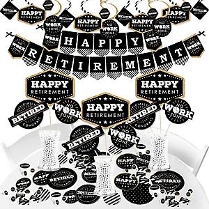 Happy Retirement - Retirement Party Supplies - Banner Decoration Kit - Fundle Bundle