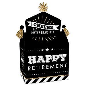 Happy Retirement - Treat Box Party Favors - Retirement Party Goodie Gable Boxes - Set of 12