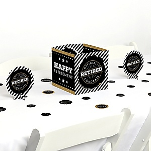 Happy Retirement - Retirement Party Centerpiece and Table Decoration Kit